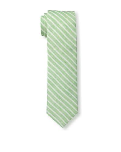 Gitman Men's Diagonal Stripe Tie, Green, One Size
