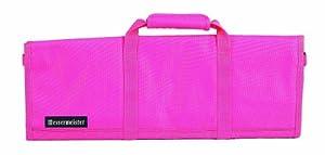 Messermeister 12-Pocket Padded Knife Roll, Pink