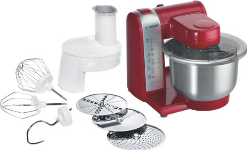 Bosch MUM48R1 Multifunctional Food Processor Mixer 600W Red