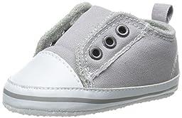 Luvable Friends Laceless Sneaker (Infant), Gray, 6-12 Months M US Infant