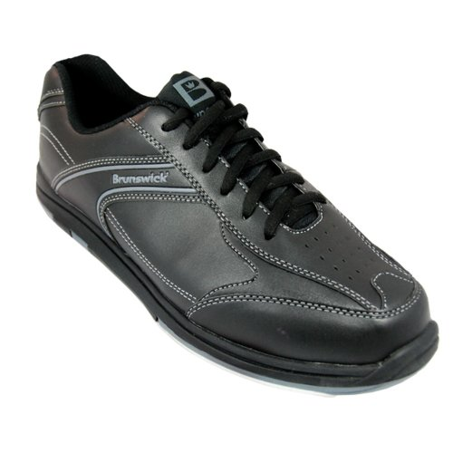 Brunswick Men's Flyer Bowling Shoes (Black Wide, 8.5)