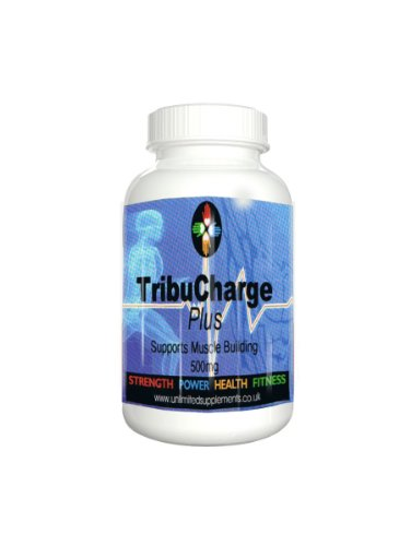 Tribulus Tribucharge PLUS 90 caps 500mg per vegi capsule of Advanced Support Muscle Building & Testosterone Production.95% Saponins