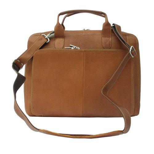 Piel Leather Slim Modern Portfolio, Saddle, One Size