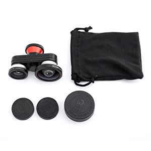 Bestlight® Cap On 4 in 1 Super Wide Angle + Front & Back Fisheye + Macro Lens for iPhone 5/5S