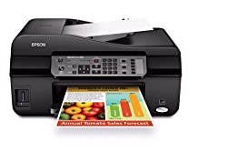 Epson WorkForce 435 Color Inkjet Wireless All-in-One Printer with Fax (C11CB45201)