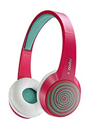 Auawak Rapoo S100 Bluetooth Fashionable Stereo Wireless Headset With Built-in Microphone for ipad iPhone and Laptops Desktops PC - Red