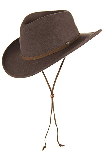 """Decatur Crushable Wool Outback Hat, Khaki, Size Large (22.75 - 23.25"""")"""