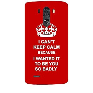 Skin4gadgets I CAN'T KEEP CALM BECAUSE I Wanted It To Be You So Badly - Colour - Red Phone Skin for LG G3 (D851,855,830)