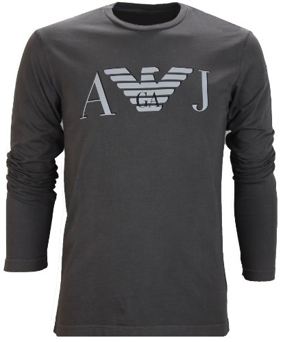 Armani Jeans Grey Crew Neck AJ Logo Top