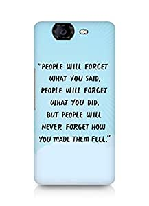 AMEZ people will forget what you said did Back Cover For Micromax Canvas Knight A350
