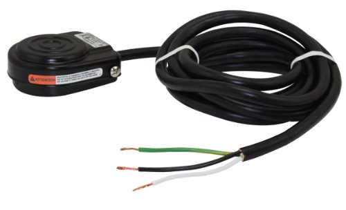 Linemaster 491-Sc3 Compact Foot Switch, Electrical, Single Pedal, Momentary, Single Stage, No Guard, Black, 8 Ft. Cord With 3 Prong Plug