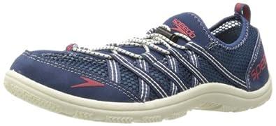 Speedo Men's Seaside 3.0 Lace Amphibious Pull On Water Shoe,Insignia Blue/Bone White,7 M US