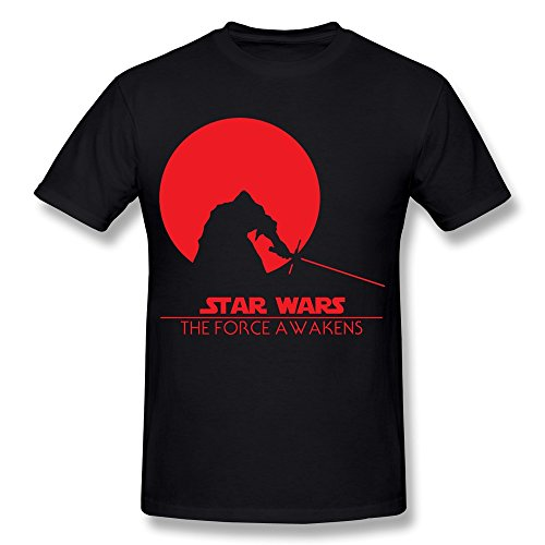 XY-TEE Men's T Shirt Star Wars The Force Awaken Harrison Ford Black Size XL (Ford Scarf compare prices)