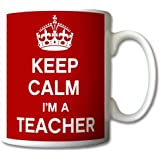 Keep Calm I'm A Teacher Mug Cup Gift Retro