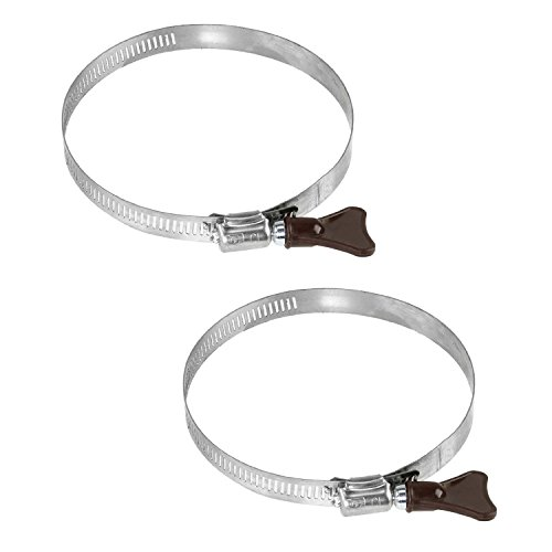 2-piece set Key Hose Clamp, Stainless Steel Band & Housing, Adjustable Worm Gear Hose Clamps, with Thumb Screw Metal Clamps 3 - 4½ Inch, 2-Pack. (Thin Hose Clamps compare prices)
