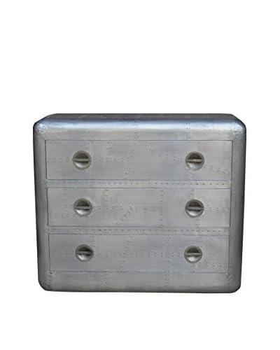CDI Furniture Aero Design Large 3-Drawer Chest, Silver