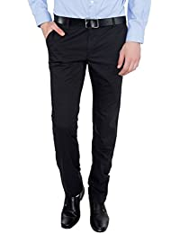 Only Vimal Men's Blue Slim Fit Cotton Chinos - B01H1YADG8