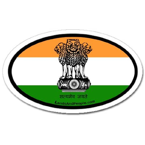 Amazon.com: India Indian Flag and Emblem Car Bumper