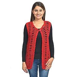 KTC Women's Wollen Cardigan (Red)