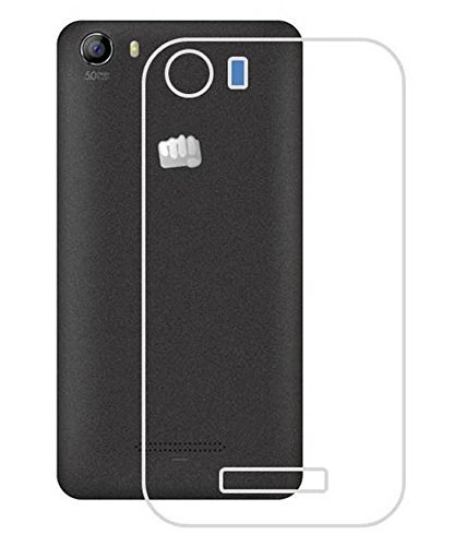 Clear Transparent Flexible Soft TPU Slim Back Case Cover For Micromax Canvas Spark 2 (Next Day Ship)