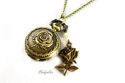 Ladyville Berlin Small Pocket Watch - A Rose Is a Rose[jewelry]