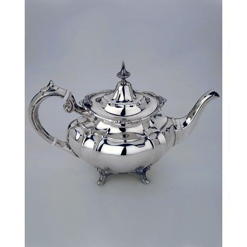 Antique Sterling Silver Tea Service With Large Tray (Silver)