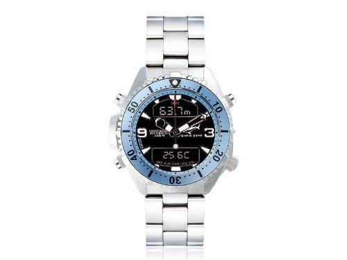 Chris Benz Men's Quartz Watch CB-D-LIGHTBLUE-MB CB-D-LIGHTBLUE-MB with Metal Strap