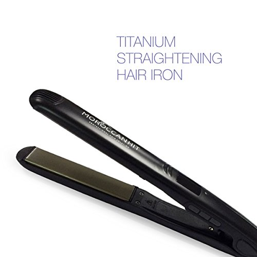 Hair Straightener - 1 inch Flat Iron - Best Titanium Ceramic - Variable Temp with LCD Display for Healthy Sexy Hair by Moroccan Hit (Hsi Flat Irons For Hair compare prices)