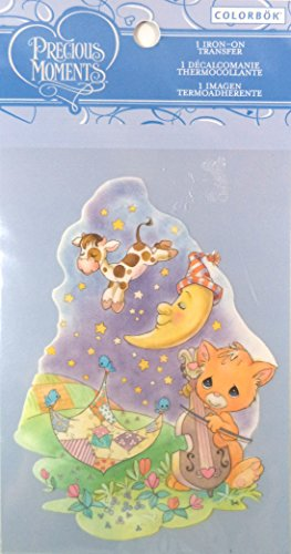 "Colorbok Precious Moments Iron On Transfer ""Cat With Fiddle"". front-786750"