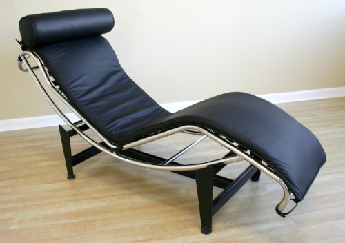 Wholesale interiors 990a black black le corbusier chaise for Chaise lounge band