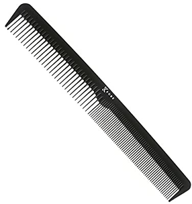 Kobe Professional Hairdressing Carbon Barber Comb - Carbon Fibre For Strength & Durability