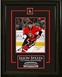 Jason Spezza Signed 8X10 Etched Mat - Red Action-V