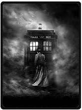 Black Noir Style Film Doctor Who TARDIS Art Fleece Throw Blanket 58quot x 80quot