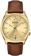Comprar Bulova - Reloj analógico de cuarzo para hombres, correa de cuero
