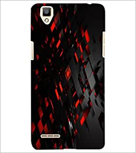 PrintDhaba Pattern D-2431 Back Case Cover for OPPO F1 (Multi-Coloured)