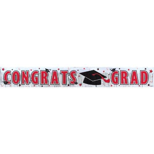 grad met frngd banner 5`red