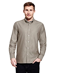 Blue Harbour Luxury Pure Cotton Button-Down Collar Shirt