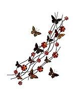 Arte Dal Mondo Decoración Pared Fiori E Farfalle