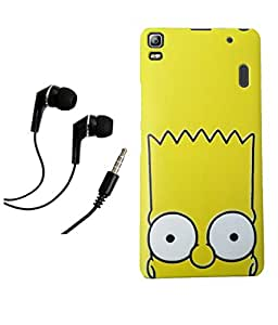 Lenovo K3 Note MOCELL Printed Design Back Case Cover With 3.5mm Super Sound Quality Earphone with Mic Combo