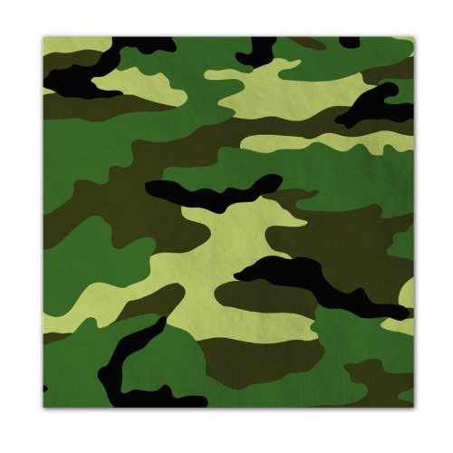 Camo Lunch Napkins (16 count) by American Greetings