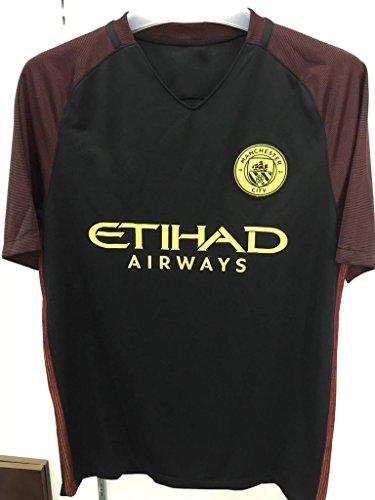 20162017NUOVA stagione Manchester City lontano calcio maglia Camicie in Nero, uomo, nero, M