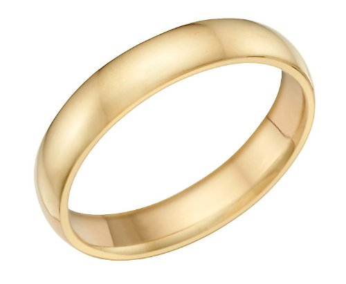 Men's 14k Yellow Gold 5mm Wedding Band Ring, Size 11