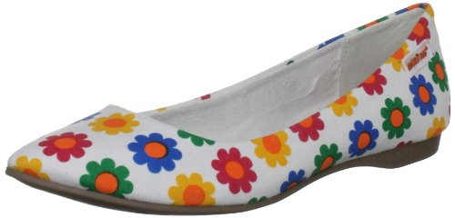 Rocket Dog Women's Chamay White Daisy Field Ballet 4 UK