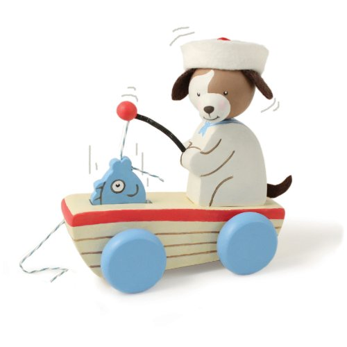 Bunnies By The Bay Skipit's Fishy Wooden Pull Toy, Blue (Discontinued by Manufacturer) - 1