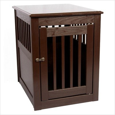 End Table Pet Crate Medium Mahogany