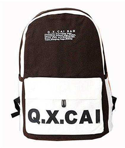Backpack Hot Sale Unisex School Bag Laptop Bag Travel Bag Shoulders Bag Canvas (Coffee)