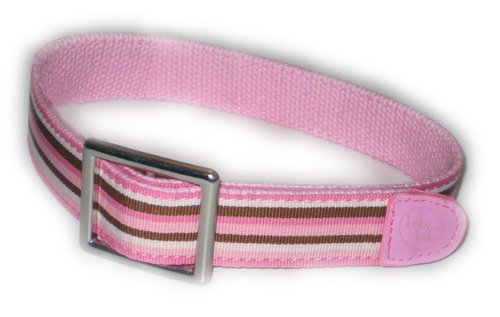 Pink Stripe Velcro Adjustable Toddler Belt (Age 2-4 yrs., Waist 20.5-21.5
