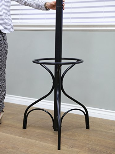 Frenchi Home Furnishing Metal Coat Rack with Umbrella Stand, Black