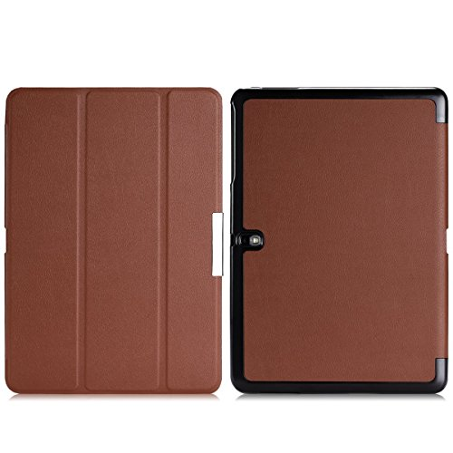 Wawo Samsung Galaxy Tab Pro 10.1 Inch Tablet Smart Cover Fold Case - Brown front-807741