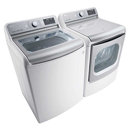 LG Power Pair Special-Mega HE Top Load Laundry System with GAS Dryer (WT7700HWA +DLGX7701WE)Pure White ColorGAS Dryer (Washing Machine And Gas Dryer compare prices)